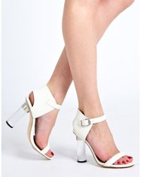 Senso Sasha Ii White Perspex Heeled Sandals