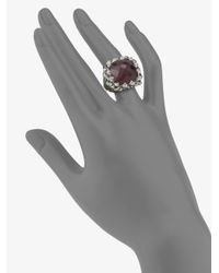 Stephen Webster - Metallic Raspberry Quartz & Sterling Silver Square Ring - Lyst