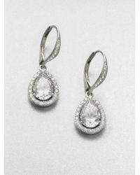 Adriana Orsini | Metallic Framed Teardrop Earrings | Lyst