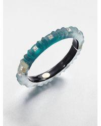 Alexis Bittar - Blue Ribbed Lucite Bangle Bracelet - Lyst