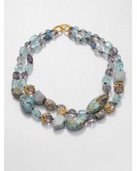 Alexis Bittar - Multicolor Double Strand Multistone Necklace - Lyst