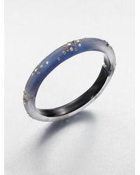 Alexis Bittar - Blue Embellished Lucite Bangle Bracelet - Lyst