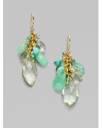 Alexis Bittar Blue Multi Stone Cluster Earrings