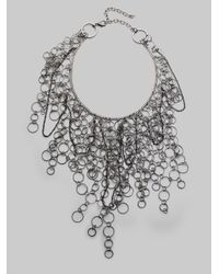Alice + Olivia - Gray Cascading Circles Bib Necklace - Lyst