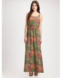 Alice + Olivia Green Kallie Meadowprint Maxi Dress