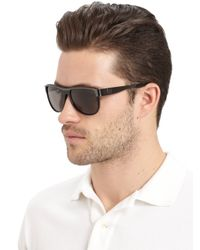 Balmain - Aviator Metal Acetate Sunglassesblack Grey for Men - Lyst