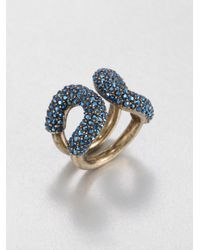 Giles & Brother Blue Crystal Encrusted Cortina Ring