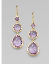 Ippolita - Purple Amethyst and 18k Yellow Gold Earrings - Lyst