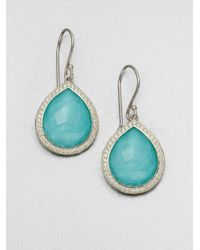 Ippolita | Blue Turquoise Doublet & Diamond Drop Earrings | Lyst