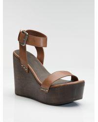 Joie - Brown Higher and Higher Platform Wedge Sandals - Lyst