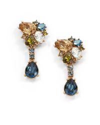 Judith Leiber - Metallic Elise Teardrop Cluster Earrings - Lyst