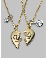 Juicy Couture | Metallic Best Friends Forever Necklace | Lyst