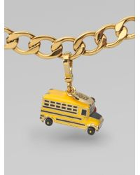 Juicy Couture Metallic School Bus Charm