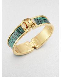 Kara Ross   Green Aqua Agate Lizard Cuff Bracelet   Lyst