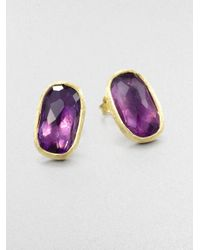 Marco Bicego | Metallic Murano Amethyst & 18k Yellow Gold Earrings | Lyst