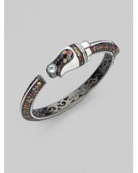 M.c.l  Matthew Campbell Laurenza Metallic Blue Topaz Sapphire Sterling Silver Art Deco Bracelet