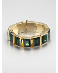 Michael Kors - Green Emeraldcut Chunky Bracelet - Lyst
