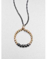 Mizuki - Metallic 14k Gold Sterling Silver Beaded Pendant Necklace - Lyst