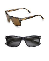 Oliver Peoples Black Maceo Vintage Square Sunglasses