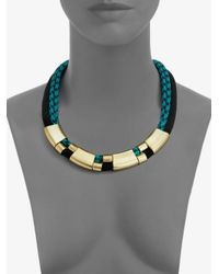 Orly Genger By Jaclyn Mayer | Blue Multirow Rope Necklace | Lyst