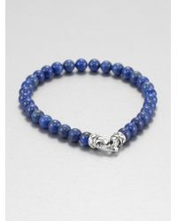 Scott Kay | Blue Lapis Beaded Bracelet for Men | Lyst