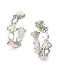 Slane | Metallic Bee Hoop Earrings | Lyst