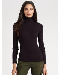 Splendid - Black Knit Turtleneck - Lyst