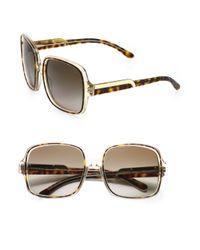 Stella McCartney | Brown Oversized Square Plastic Sunglasses | Lyst