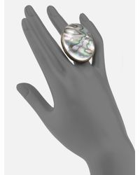 Stephen Dweck Gray Abalone Oval Ring