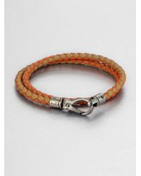 Tod's - Brown Leather Double-wrap Bracelet - Lyst