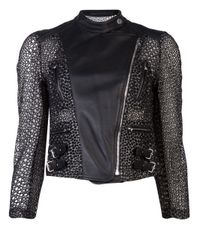 Yigal Azrouël Black Embroidered Organza Jacket