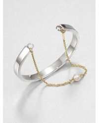 Delfina Delettrez | Metallic Infinity Two-In-One Freshwater Pearl, 18K Yellow Gold & Sterling Silver Bracelet | Lyst