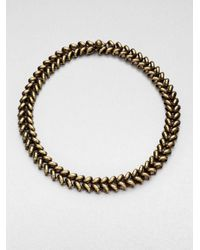 Giles & Brother | Metallic Ceres Antiqued Choker | Lyst