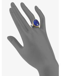 Gurhan - Blue 24k Gold Sterling Silver Lapis Ring - Lyst