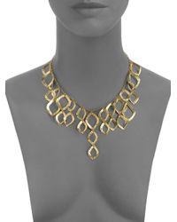 Kevia - Metallic Lotus Petal Necklace - Lyst