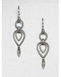 Lagos Metallic Sterling Silver Caviar Earrings