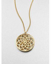 Mija | Metallic White Sapphire Dreamcatcher Necklace | Lyst