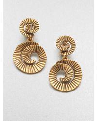 Oscar de la Renta | Metallic Spiral Clipon Drop Earrings | Lyst