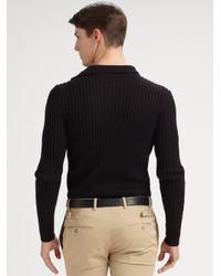 Ralph Lauren Black Label   Black Turtleneck Button Sweater for Men   Lyst