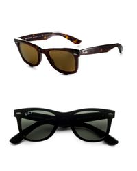 Ray-Ban | Black Wayfarer Sunglasses for Men | Lyst