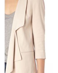 French Connection   Natural Connie Crepe Jacket   Lyst