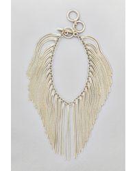 French Connection - White Snake Chain Fringe Bracelet - Lyst