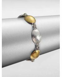 Gurhan | Metallic 24k Gold Sterling Silver Lentil Link Bracelet | Lyst