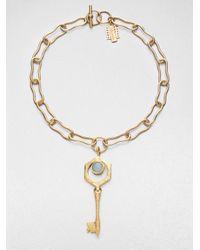 Kelly Wearstler - Metallic Larimar Covet Key Pendant Necklace - Lyst
