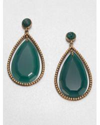 Stephen Dweck Green Agate Drop Earrings