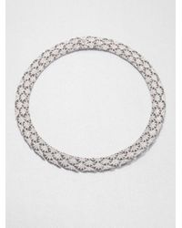 Adriana Orsini | Metallic Pavé Crystal Fan Collar Necklace | Lyst