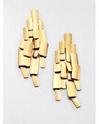 Aurelie Bidermann | Metallic Machu Pichu Earrings | Lyst