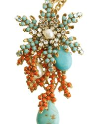 Bijoux Heart Metallic 24karat Goldplated Swarovski Crystal Necklace