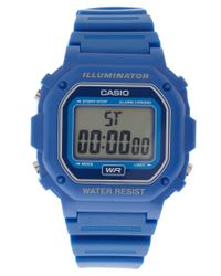G-Shock | Blue F-108wh-2aef Digital Illuminator Watch | Lyst