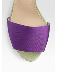 Fendi - Purple Colorblock Grosgrain Sandals - Lyst